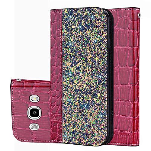 für Smartphone Samsung Galaxy J3 (2016) J310 Hülle, Leder Tasche für Samsung Galaxy J3 J310 2016 Flip Cover Handyhülle Bookstyle mit Magnet Kartenfächer Standfunktion (5)