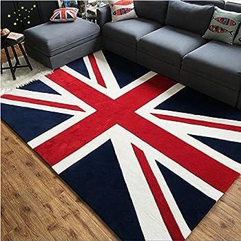 Nouvelle union jack tapis la grande bretagne pavillon bleu rouge et blanc grande pour for Moquette anglais
