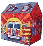 Kinderspielzelt Kinderzelt Spielzelt Spielhaus Zelt für drinnen und draußen Feuerwehr
