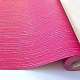 Grandeco Ideco Glitz Glitzer Gestreiftes Muster Geprägtes Vinyl-tapeten - Rosa A11415