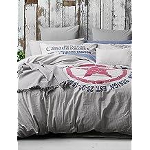 La colcha 100% algodón 4PC patrón de estilo americano, conjuntos de edredón Queen/King Size , reina