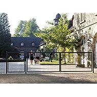 Einfahrtstor Toranlage 3-flügelig Grau Tor Hoftor Doppel Gartentor 500cm x 103cm