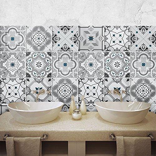 wall art PS00095 Adesivi in pvc per piastrelle per bagno e cucina ...