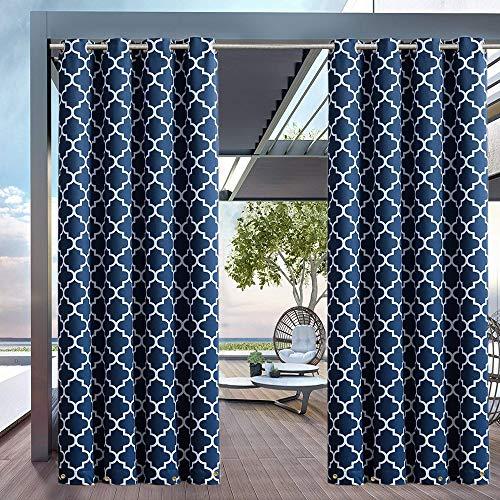UniEco Outdoor Vorhang gardinen mit ösen Gartenlauben Balkon-Vorhänge Verdunkelungsvorhänge...