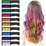 XIMU Tiza para el cabello, Tintes capilares con tiza Pluma de tinte temporal para el cabello de destello metálico No tóxico L