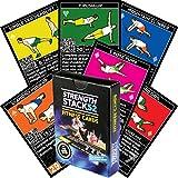 Cartes d'exercices pour poids corporel de Stack 52. Instructions vidéo incluses.