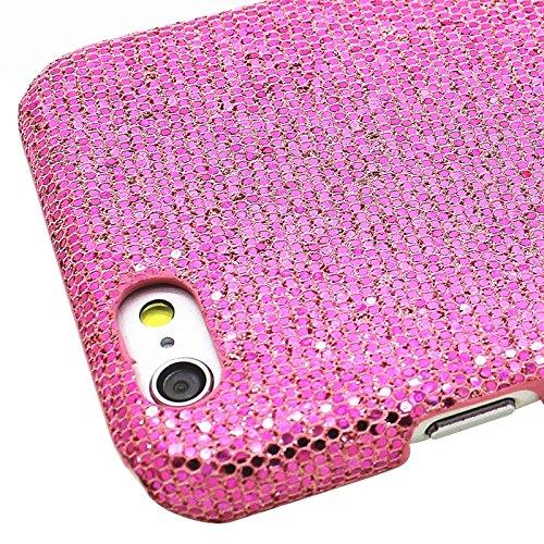 YAN Für IPhone 6 & 6S, Shimmering Powder Galvanisieren Kunststoff Hard Case ( Color : Silver ) Magenta