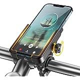 Porta Telefono Bici & Moto, WOEOA Supporto Smartphone per Bici Alluminio Portacellulare per Bicicletta/Scooter/Mtb Porta Cell