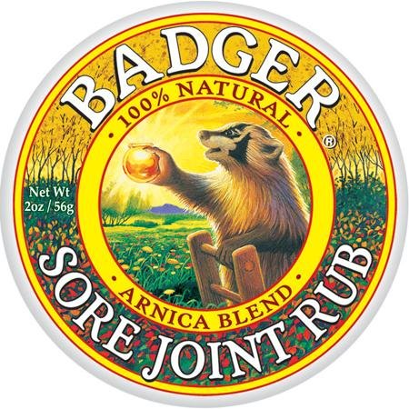 Badger JOINT RUB BALM Certified Organic Arnica Blend Sore, Achy Joint Relief 21g