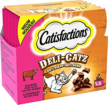 CATISFACTIONS Deli-Catz Pack de 16 Friandise au Poulet pour Chat 5 x 5 g