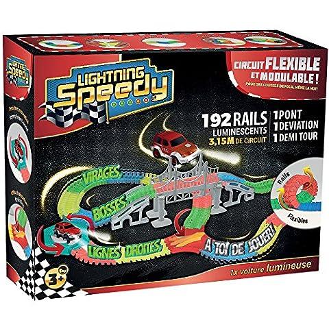 Lightning Speedy Tracks Circuit de voiture flexible, modulable, magic et