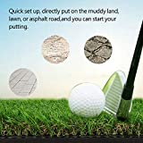 GOTOTOP Golf Practice Mat, 64x40cm Tri-Turf Portable Golf Hitting Mat Golf Chipping and Driving Mat for Backyard Indoor Practice