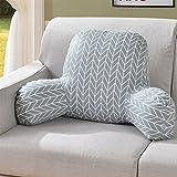 LIUSHIJITUAN Bett Fluidsysteme Lesung-Kissen,Herausnehmbaren Taille Dämpfung Büro Designer-lenden Sofa Sessel Pads Lendenwirbelsäule-B 58x40x25cm(23x16x10)