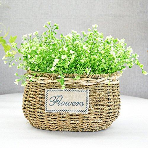 Künstliche Fake Blumen 4PCS Sträucher Blumen Arrangement Home Hochzeit Outdoor Festive Party Decor UV-beständig Pflanzen Grün für Fenster Box Terrasse Yard Garten Büro Decor grün -