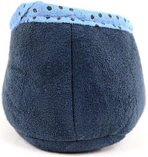 Mesdames/Femme Semelle Souple antidérapante Ballerine sur pantoufles Bleu Marine