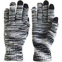 Guantes tejidos TrailHeads compatibles con pantallas táctiles, mujer, black& white