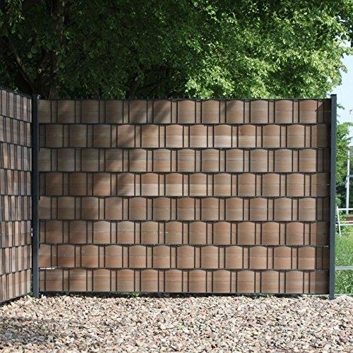 *Videx-Hart-Kunststoff Sichtschutz-streifen Premium, 9,5 x 250 cm braun, 2er Set*