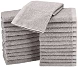 Picture of AmazonBasics Cotton Washcloths - 24-Pack - Grey