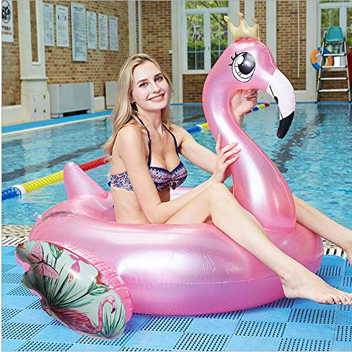 Angazure fenicottero gonfiabile, piscina estiva gonfiabile a forma di fenicottero adatta per adulti e bambini