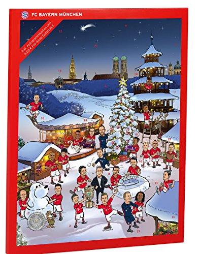Preisvergleich Produktbild FC Bayern München Adventskalender + gratis Aufkleber Weihnachtskalender gefüllt