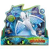 Dragons - Movie Line - 6052264 - Deluxe Dragons - Lightfury (Solid) mit Licht- und Soundeffekten, Actionfigur, Drachenzähmen leicht gemacht 3, Die geheime Welt