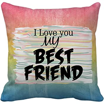 Tied Ribbons Friendship Day Best Designed Cushion (12 inch x 12 inch) with Filler