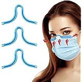 HSAJS 3 stuks Neusbrug voor gezichtsbedekking, herbruikbare siliconen Anti-condens neusbrugbril Ontdooier Neusbrugbeugel Soep