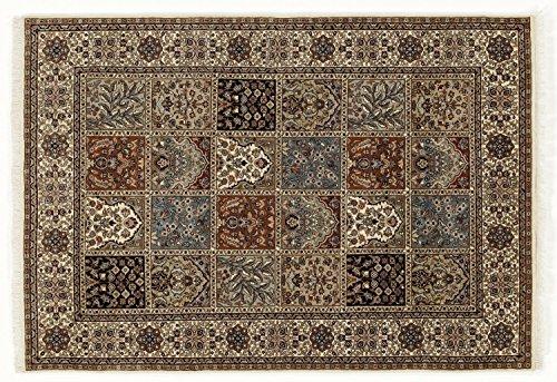 TIWA GHOM echter klassischer Orient Felderteppich handgeknüpft in creme-creme, Größe: 250x300 cm -