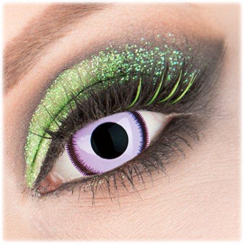 Farbige violette 'Purple Lunatic' Mini Sclera Kontaktlinsen 1 -