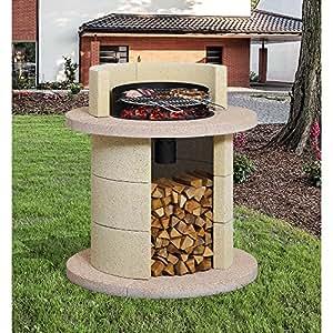 Barbecue da giardino in muratura cemento Saturno Kg 405