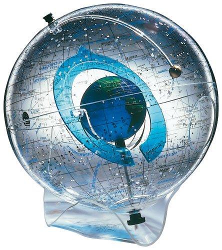 Design-Globus COLUMBUS STARSHP EARTH II: 40 cm Durchmesser. Tischmodell, Schalenfuß Acryl transparent, Planetarium mit integriertem Globus -
