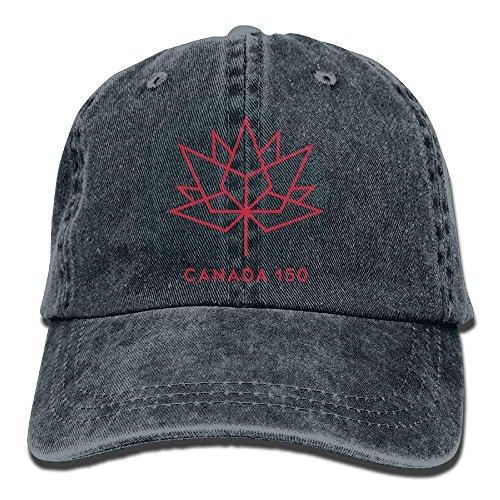 Baseballkappe, Happy 150th Birthday Canada Denim Jeanet Baseball Cap Adjustable Cricket Cap for Men Women ()