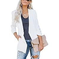 Dazzerake Blazer da Donna a Manica Lunga Slim Fit Elegante Aperto Davanti alle Giacche da Abito in Tinta Unita