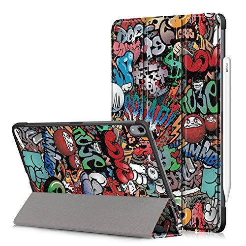 Fmway PU Leder Flip Cover Hülle Case mit Auto Schlaf/Wach und Ständerfunktion Funktion mit für iPad Pro 11 Zoll 2018(Lademodus des Apple Pencils 2nd Gen Wird unterstützt) Ipad Flip Case