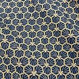 Werthers Stoffe Stoff Baumwollstoff Meterware blau