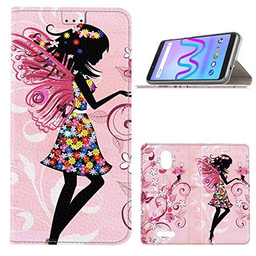GeeMai Wiko Jerry 3 Hülle, Premium Flip Case Tasche Cover Hüllen mit Magnetverschluss [Standfunktion] Schutzhülle Handyhülle für Wiko Jerry 3 Smartphone, CH06