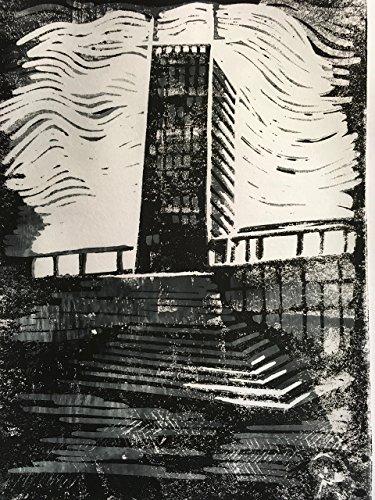 Wesertower Bremen - Linolschnitt, von Hand einzeln gedruckt, etwa 20x15cm, Limitiert auf 10 Stück,...