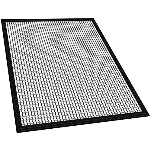 Preisvergleich Produktbild DKEyinx Antihaft BBQ Grillmatten-Grillplatten,  33 cm x 40 cm,  Glasfaser BBQ-Grill Mesh,  Hitzebeständigkeit Thermal Barbecue Mat Pad Schwarz