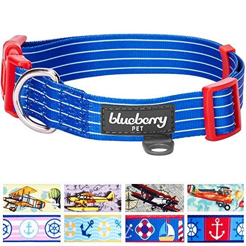 blueberry-pet-royal-bon-voyage-nautical-sleek-wisdom-designer-dog-collar-neck-37cm-50cm-medium-colla