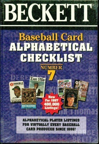 Baseball Card Alphabetical Checklist: No 7 by Beckett Publishing (1998) Paperback