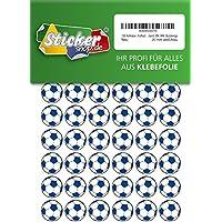 135, Fútbol, pegatinas, 20 mm, color blanco/azul, de PVC