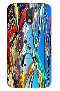 Blue Throat Flags In Air Hard Plastic Printed Back Cover/Case For Moto G4