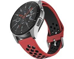 ISABAKE 20mm Rechange Bracelet de Montre CompatiblepourGarmin Vivoactive 3 Vivomove HR Forerunner 245 645 Music Galaxy Acti