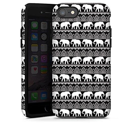Apple iPhone X Silikon Hülle Case Schutzhülle Elefant Henna Mandala Tough Case glänzend