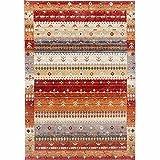 Taleta Moderner Gabbeh Teppich, Hochflor Bordüre Bunt Muster, Rust Rot Mehrfarbig, Größe:160 x 230 cm