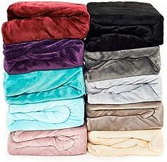 MALIKA Luxus Cashmere-Touch Spannbettlaken Spannbetttuch Laken Winter Plüsch Nicky-Teddy Coral Fleece