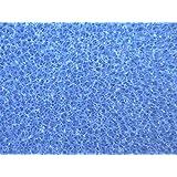 Filterschwamm Filter Teichfilter Filtermatte PPI 20 mittel 2 x 1m x 5cm Filterschaumstoff 200x100x5cm Filterschaum Regenwasserfilter Koi Garnelen Zucht Filter zum selber zuschneiden Filterschaumstoffmatte Vorfilter blau Schaumstofffilter Filtermatte Mattenfilter Teichfilter 100x200