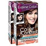 Eugène Color Color & Contrast Coloration Permanente pour Cheveux Foncés Caramel Fondant 7,35 - Lot de 2