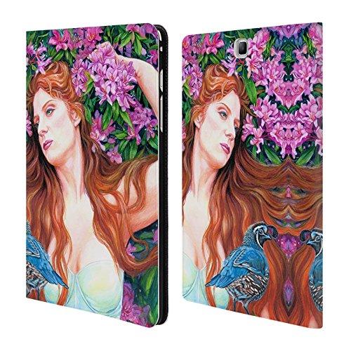 Offizielle Jane Starr Weils Quail Göttin 2 Brieftasche Handyhülle aus Leder für Samsung Galaxy Tab A 9.7
