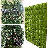 MARGUERAS 72 Poche Sac De Plantation vert Mural Suspendu Fleur Herbe Plante Décor Maison Jardin 1*1M (vert)